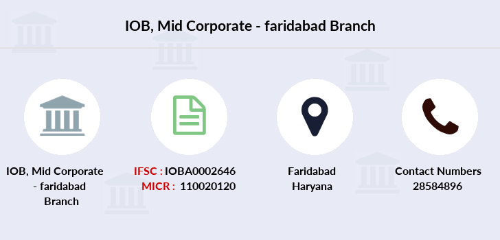 Indian-overseas-bank Mid-corporate-faridabad branch