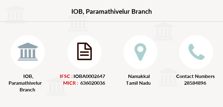Indian-overseas-bank Paramathivelur branch