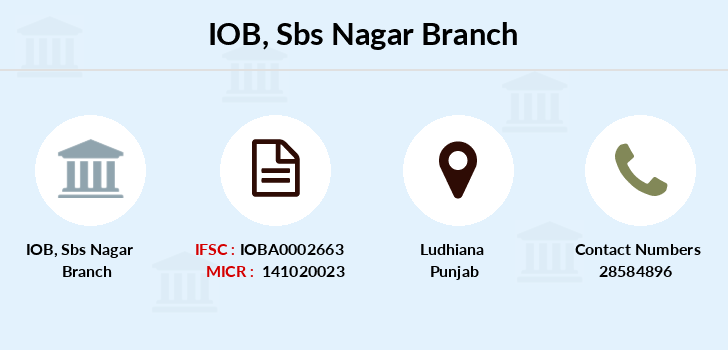 Indian-overseas-bank Sbs-nagar branch