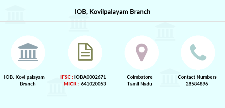 Indian-overseas-bank Kovilpalayam branch