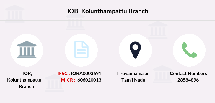 Indian-overseas-bank Kolunthampattu branch