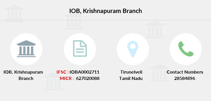 Indian-overseas-bank Krishnapuram branch