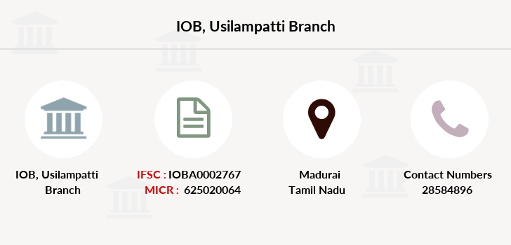Indian-overseas-bank Usilampatti branch