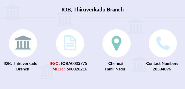 Indian-overseas-bank Thiruverkadu branch