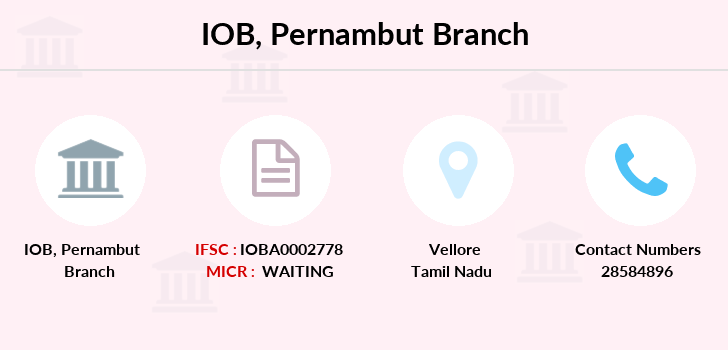 Indian-overseas-bank Pernambut branch