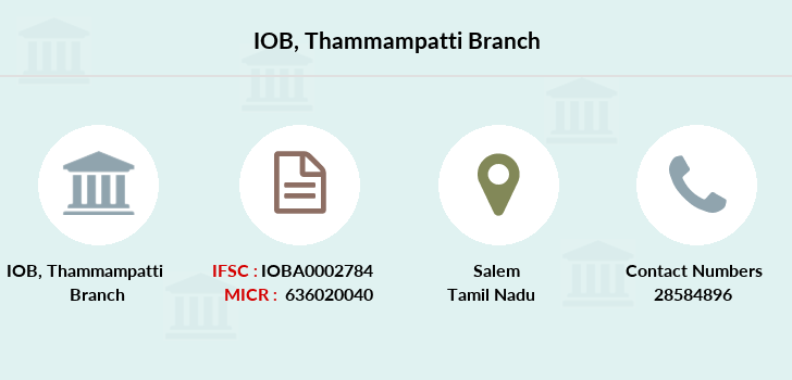 Indian-overseas-bank Thammampatti branch