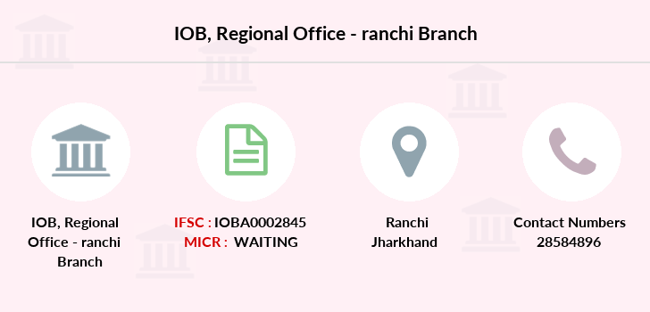 Indian-overseas-bank Regional-office-ranchi branch