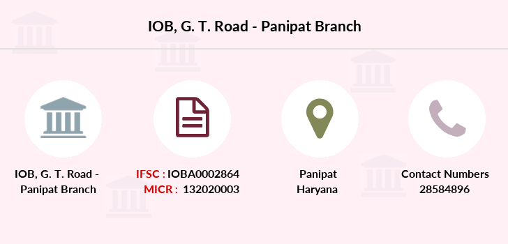 Indian-overseas-bank G-t-road-panipat branch