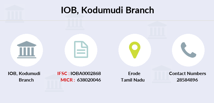 Indian-overseas-bank Kodumudi branch
