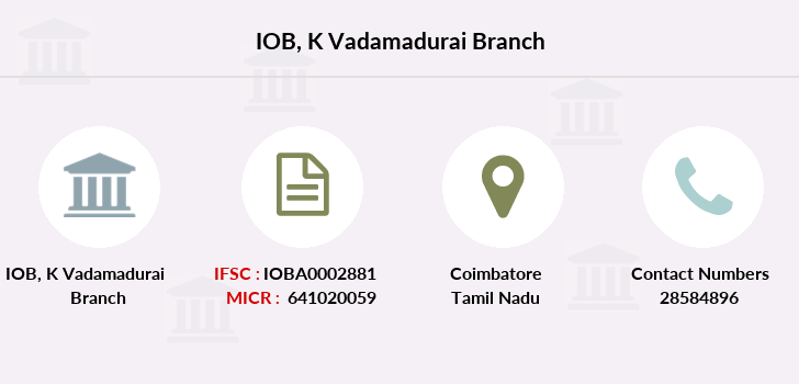 Indian-overseas-bank K-vadamadurai branch