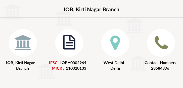 Indian-overseas-bank Kirti-nagar branch