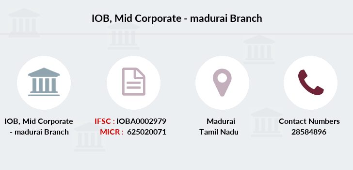 Indian-overseas-bank Mid-corporate-madurai branch
