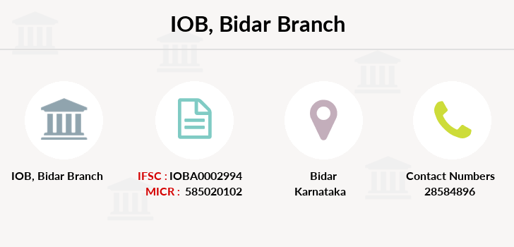 Indian-overseas-bank Bidar branch