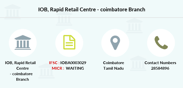 Indian-overseas-bank Rapid-retail-centre-coimbatore branch