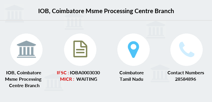 Indian-overseas-bank Coimbatore-msme-processing-centre branch