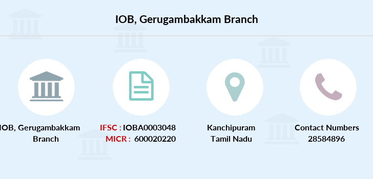 Indian-overseas-bank Gerugambakkam branch