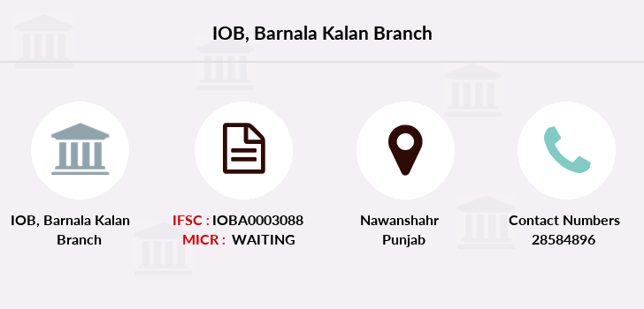 Indian-overseas-bank Barnala-kalan branch