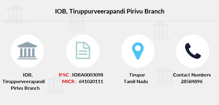 Indian-overseas-bank Tiruppurveerapandi-pirivu branch