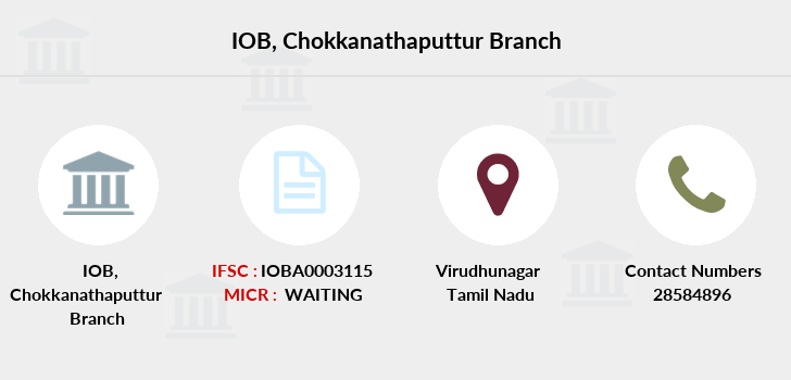 Indian-overseas-bank Chokkanathaputtur branch