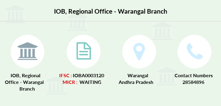 Indian-overseas-bank Regional-office-warangal branch