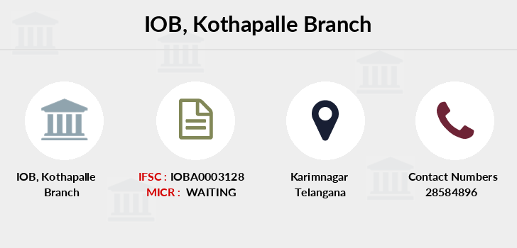 Indian-overseas-bank Kothapalle branch
