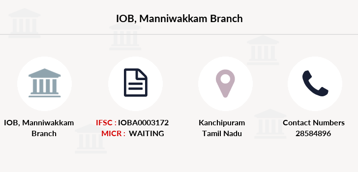 Indian-overseas-bank Manniwakkam branch