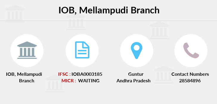 Indian-overseas-bank Mellampudi branch