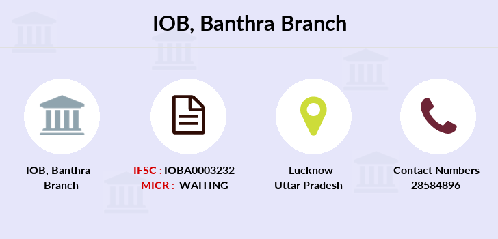 Indian-overseas-bank Banthra branch