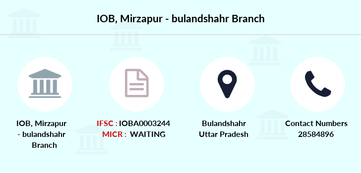 Indian-overseas-bank Mirzapur-bulandshahr branch