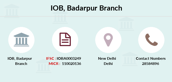 Indian-overseas-bank Badarpur branch