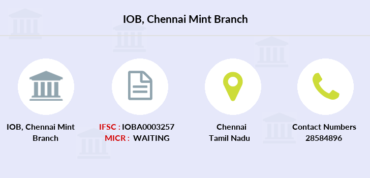 Indian-overseas-bank Chennai-mint branch