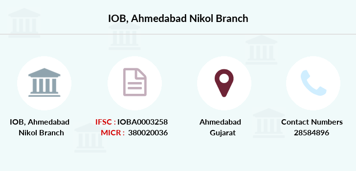 Indian-overseas-bank Ahmedabad-nikol branch