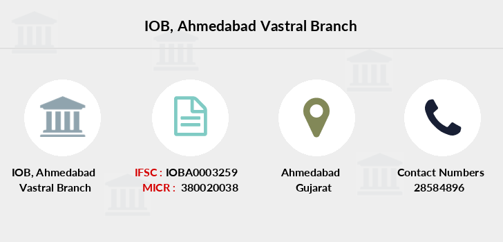 Indian-overseas-bank Ahmedabad-vastral branch