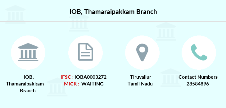 Indian-overseas-bank Thamaraipakkam branch