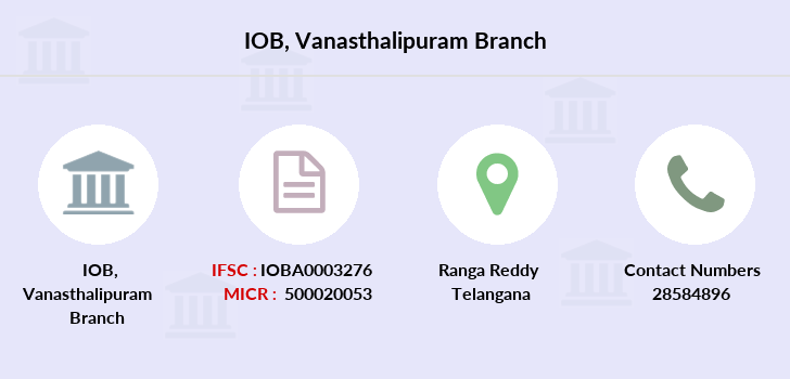 Indian-overseas-bank Vanasthalipuram branch