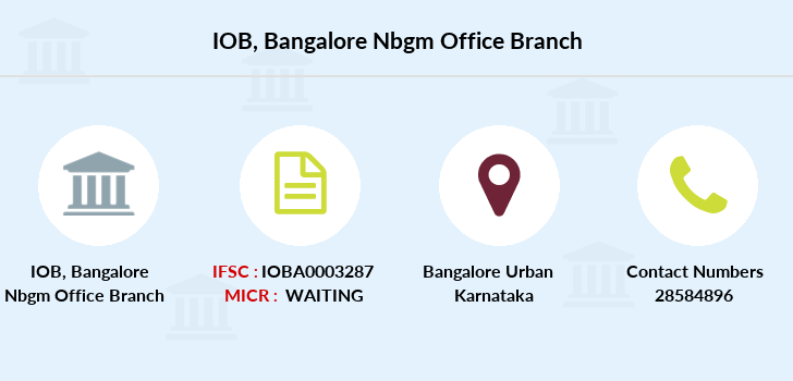 Indian-overseas-bank Bangalore-nbgm-office branch