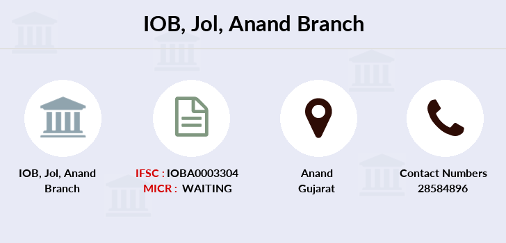 Indian-overseas-bank Jol-anand branch