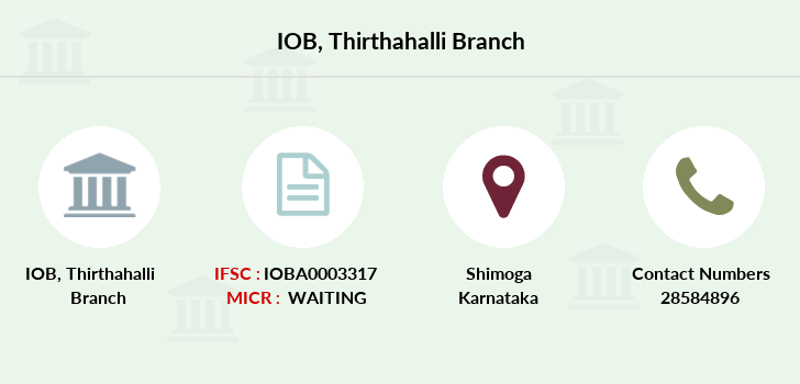 Indian-overseas-bank Thirthahalli branch