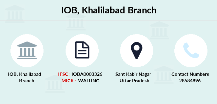 Indian-overseas-bank Khalilabad branch