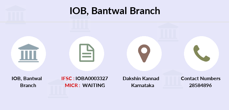 Indian-overseas-bank Bantwal branch