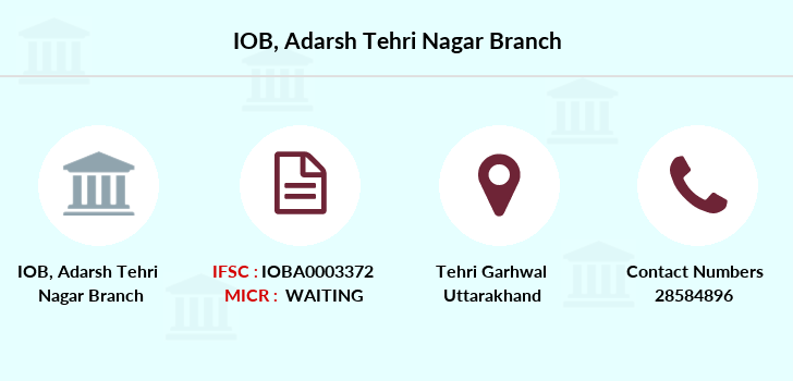 Indian-overseas-bank Adarsh-tehri-nagar branch