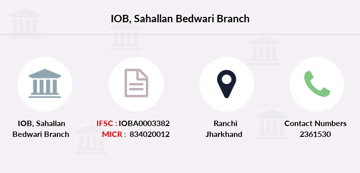 Indian-overseas-bank Sahallan-bedwari branch
