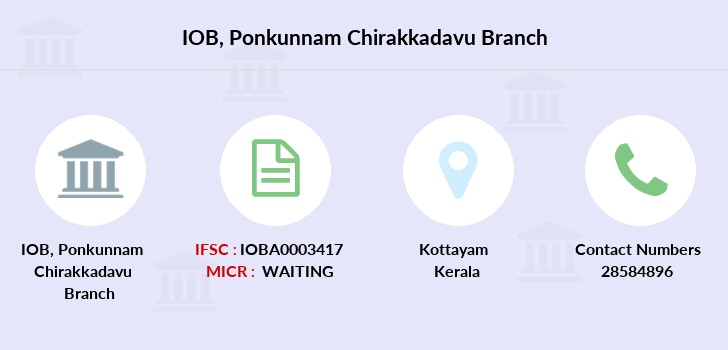 Indian-overseas-bank Ponkunnam-chirakkadavu branch