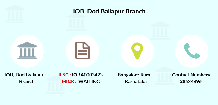 Indian-overseas-bank Dod-ballapur branch