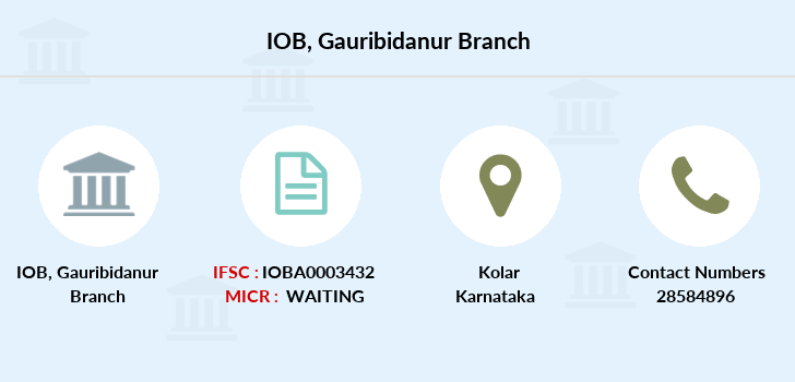 Indian-overseas-bank Gauribidanur branch