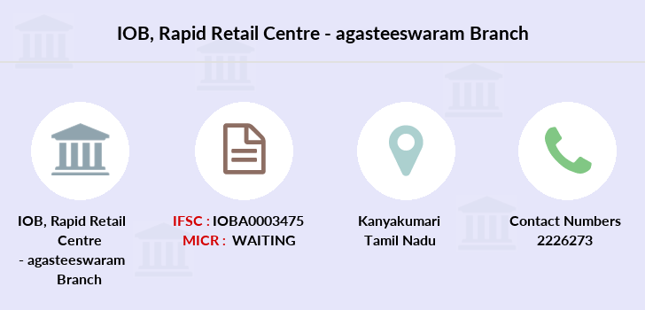 Indian-overseas-bank Rapid-retail-centre-agasteeswaram branch
