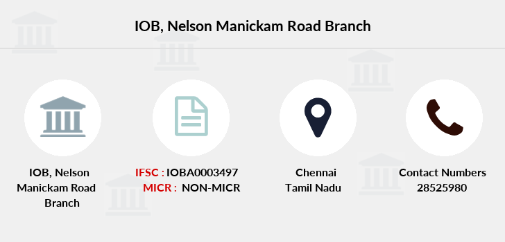 Indian-overseas-bank Nelson-manickam-road branch