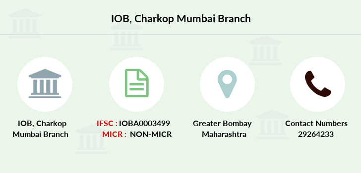 Indian-overseas-bank Charkop-mumbai branch