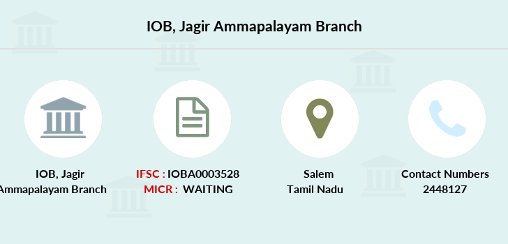 Indian-overseas-bank Jagir-ammapalayam branch