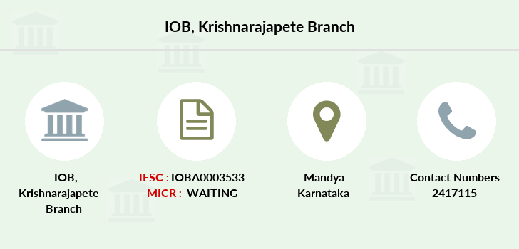 Indian-overseas-bank Krishnarajapete branch